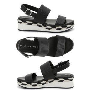 Kelly & Katie Poliana Wedge Espadrille Sandals 9